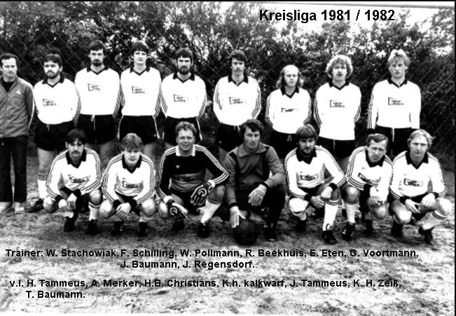 1. Mannschaft Kreisliga Saison 1981/ 82