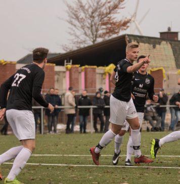 FCL-Abwehrchef Marven Mudder erzielte den zwischenzeitlichen 1:1-Ausgleich. Foto: Reiner Poets.