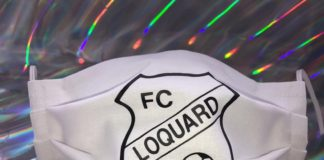 Ab sofort für 12€ erhältlich: Der FC Loquard-Mundschutz.