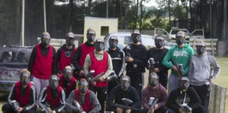 Unsere Mannen verlagerten ihr Treffsicherheits-Training auf die Paintball-Anlage in Loppersum. Bild: Paintball Area 52