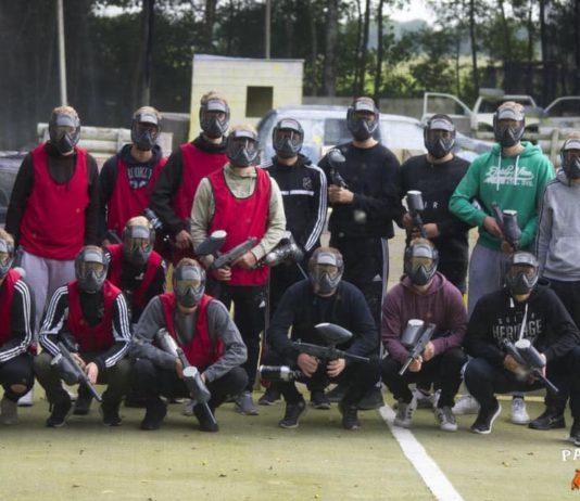 Unsere Mannen verlagerten ihr Treffsicherheits-Training auf die Paintball-Anlage in Loppersum. Bild: Paintball Area 52