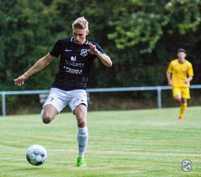 Timo Artmann bestätigte auch gegen die Emder seine gute Frühform und erzielte beide FCL-Treffer. FCL-Bild: Reiner Poets