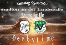 Bereits am ersten Spieltag der Spielzeit 2020/2021 treten unsere Mannen zum prestigeträchtigen Krummhörn-Derby an. FCL-Grafik: Mirko Weets