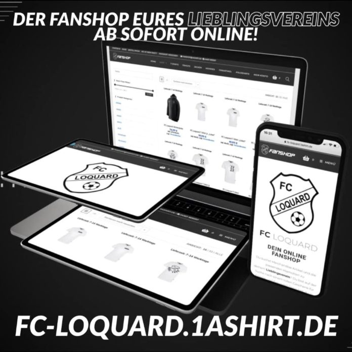 Ein weiterer Meilenstein für unseren FC Loquard: Ab dem heutigen Donnerstag ist der neue FCL-Onlineshop verfügbar, auf dem sich unsere treuen Anhänger mit FCL-Artikeln aller Art bedienen können.