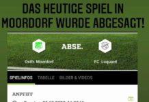 Das für den heutigen Sonntag geplante Ostfrieslandliga-Spiel unserer Loquarder bei Ostfrisia Moordorf fällt aus.