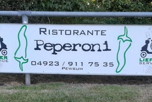 """Das Restaurant """"Pizzeria Peperoni"""" wird unseren FCL künftig in Form einer Bandenwerbung unterstützen."""