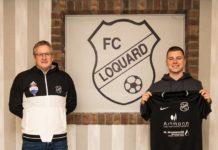 Sein zukünftiger Trainer André Popp (links) traut Joost Hinderks (rechts) den großen Sprung vom Jugend- in den Herrenbereich zu und freut sich auf einen weiteren talentierten Spieler. FCL-Bild: Reiner Poets