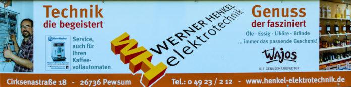 Werner Henkel Elektrotechnik wird unserem FCL künftig als Werbepartner in Form von Bandenwerbung zur Seite stehen. FCL-Bild: Reiner Poets