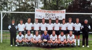 Ziege (unten rechts) als fester Bestandteil unserer Ersten Herren, die in der Saison 1990/1991 Meister in der Kreisliga wurde.