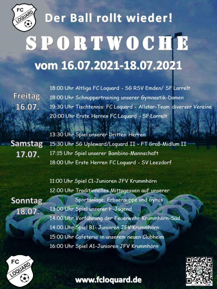 Für jeden etwas dabei: Das Sportwochen-Programm von unserem FCL. Grafik: Mirko Weets und Thorsten Zeiß